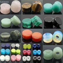 Leosoxs-nueva expansión para oreja, piedra de expansión para oreja cuerpo punk, perfil de perforación, túnel de oreja hipoalergénico, 2 uds.