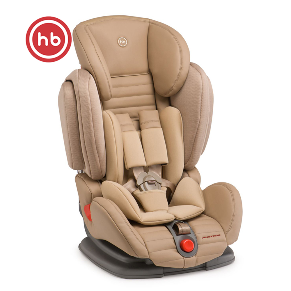 Child Car Safety Seats Happy Baby Mustang For Girls And Boys Baby Seat Kids Children Chair Autocradle Booster  Beige