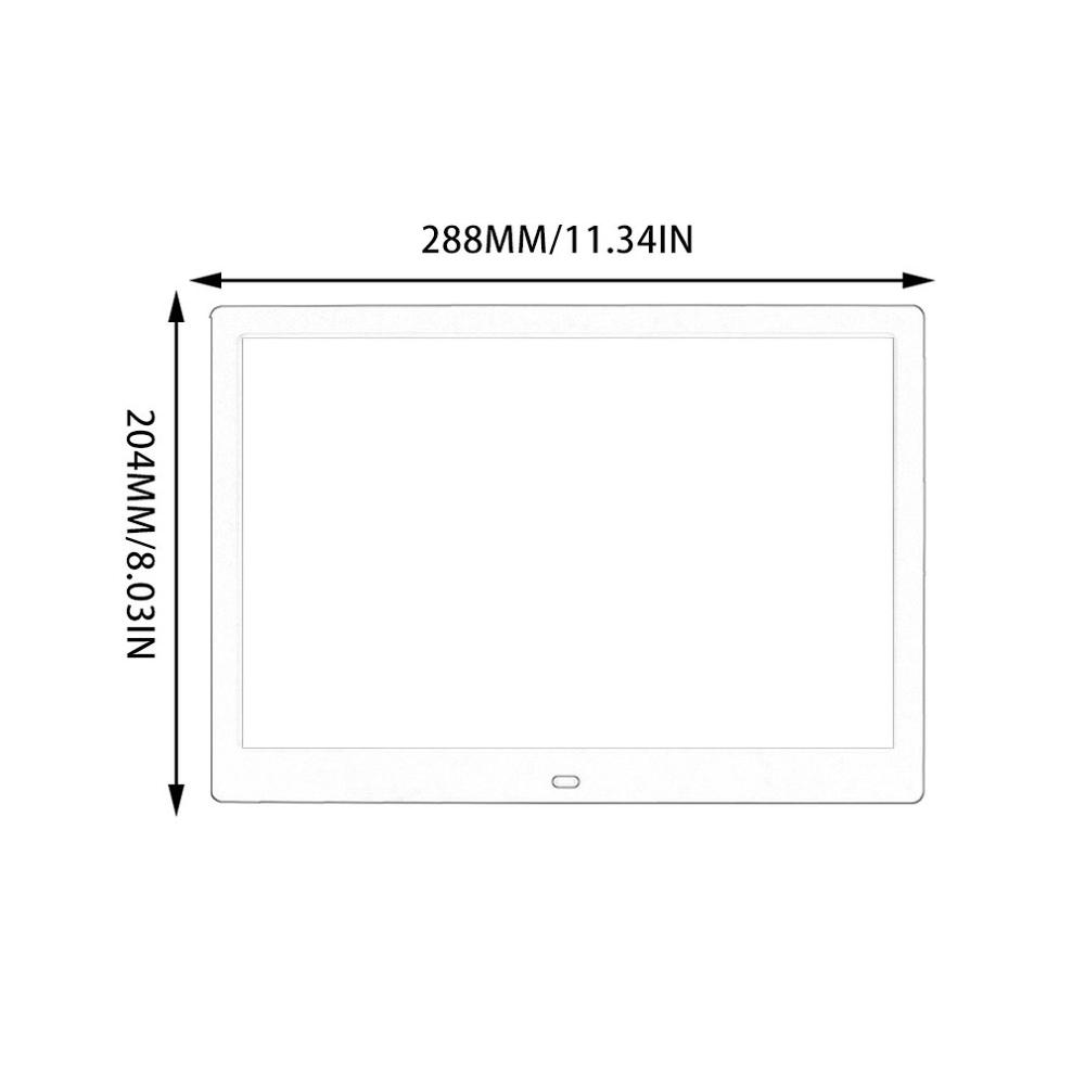 12 inch Screen LED Backlight HD Digital Photo Frame Electronic Album Photo Music Film Full Function Good Gift - 6