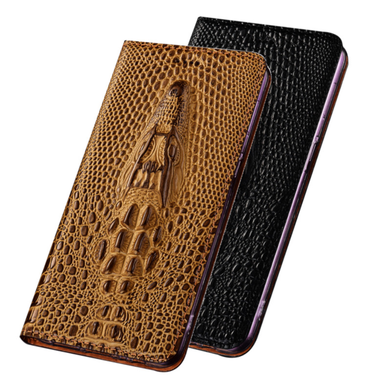 3D Grocodile Grain Cowhide Leather Phone Case Holster For Nokia 5.4/Nokia 5.3/Nokia 5 Phone Bag Card Holder Case