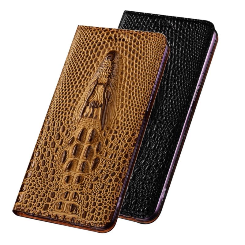 3D Grocodile Grain Cowhide Leather Phone Case Holster For Nokia 5.4/Nokia 5.3/Nokia 5 Phone Bag Card Holder Case