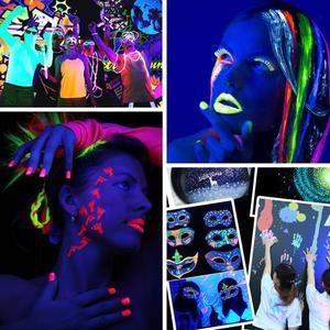 Image 4 - Biutee 12Colors Glow in dark pigment powder with UV Lamp Neon Colour Paint Fluorescent Powder Epoxy Resin Luminous 20g/Bottle