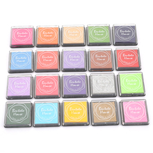 20pcs Multi-colored Giant Ink Pads Stamp Pads Inkpad Handmade DIY Craft For DIY Craft Scrapbooking Finger Paint Ink Pad Set