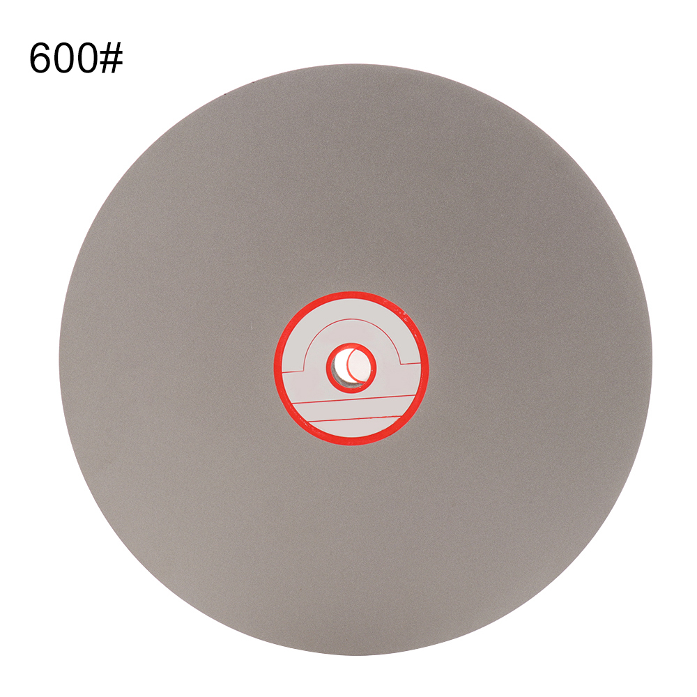 8 Inch Diamond Coated Flat Lap Wheel Jewelry Polishing Grinding Disc 600/1200/2000#  For Polish Jewelry Glass Rock