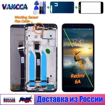 Vancca 5 45 calowy wyświetlacz LCD do ekranu dotykowego Xiaomi Redmi 6A do ramy montażowej Redmi 6 Digitizer z bezpłatnym szkłem hartowanym tanie i dobre opinie CN (pochodzenie) Pojemnościowy ekran 3 For Xiaomi Redmi 6A LCD i ekran dotykowy Digitizer Black White 5 45 inch In 24 Hours