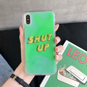 Image 3 - Fashion Noctilucent Quicksand Phone Case For iPhone X XR XS MAX 7 8 6 6S Plus Trend Luminous Back Protective Cover Fundas Etui
