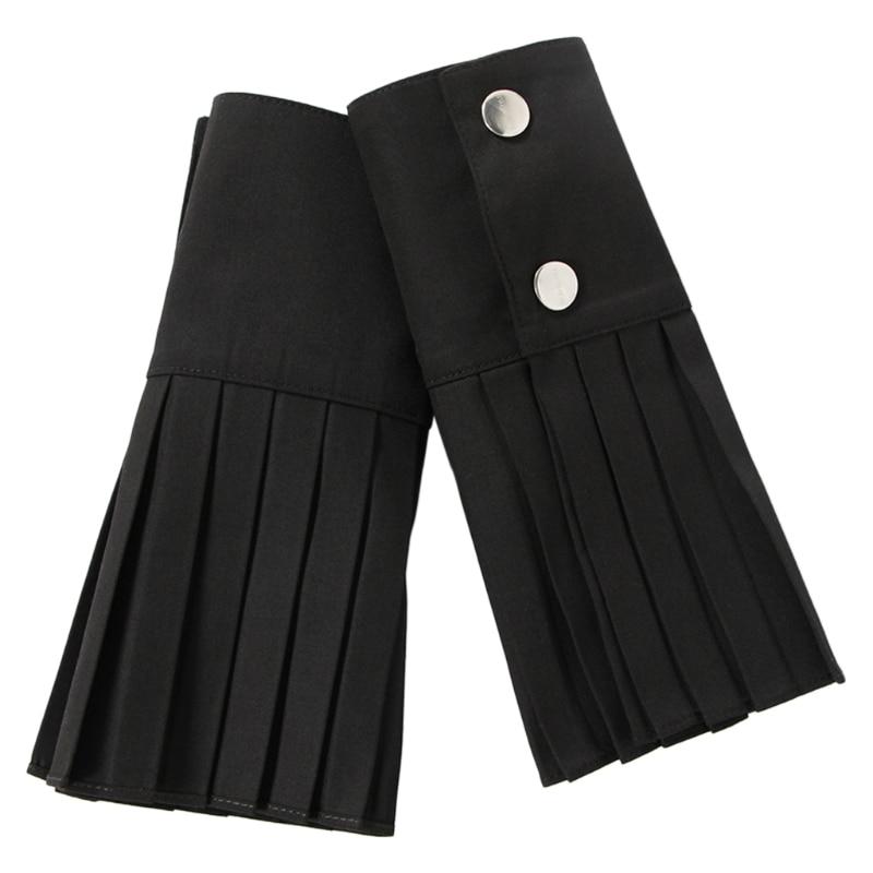 1 Pair Detachable Shirt Pleated Horn Flare Sleeve Cuffs Over Sleeve