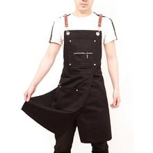 2020 ファッションユニセックスエプロンコーヒーショップ作業エプロン調理防汚エプロン作業服ノースリーブスタイルワークウェア