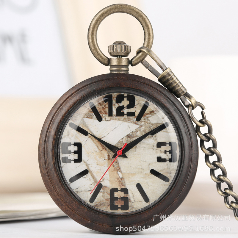 Hot Cakes Style Restoring Ancient Ways Marble Surface Black Digital Green Ancient Red Seconds Quartz Watch A Undertakes