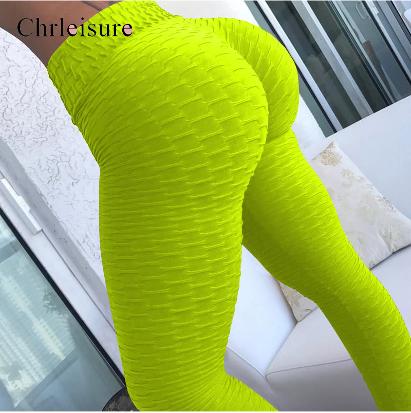 Women High Waist Tight Leggins Sexy Push Up Workout Leggings Mujer Wrinkle Absorbent  Breathable Women Leggings