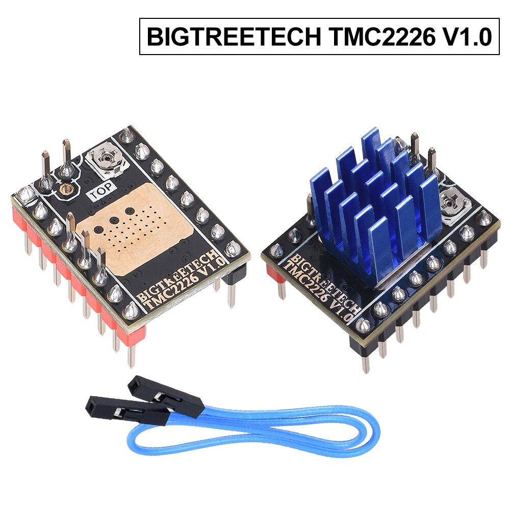 Bigtreetech placa para impressora, peças da impressora tmc2226 v1.0 uart 2.8a 3d tmc2209 tmc2130 para skr v1.3 v1. 4 turbo cr10 ender3