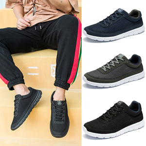 Image 3 - أحذية ذكية عادية للرجال واسعة تنفس أحذية رياضية حذاء رجالي خفيفة الوزن رجل أسود المشي الأحذية موضة حذاء رجالي كاجوال