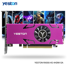 Graphics-Cards Pc-Video Gaming Desktop Yeston Radeon Rx 550 GDDR5 Support Gpu 4gb 128bit