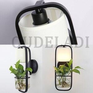 Image 4 - Moderne Amerikaanse Glazen Muur Lampen Ijzer Tuin Slaapkamer Woonkamer Eetkamer Gang Nachtkastje E14 Hydrocultuur Succulenten Blaker