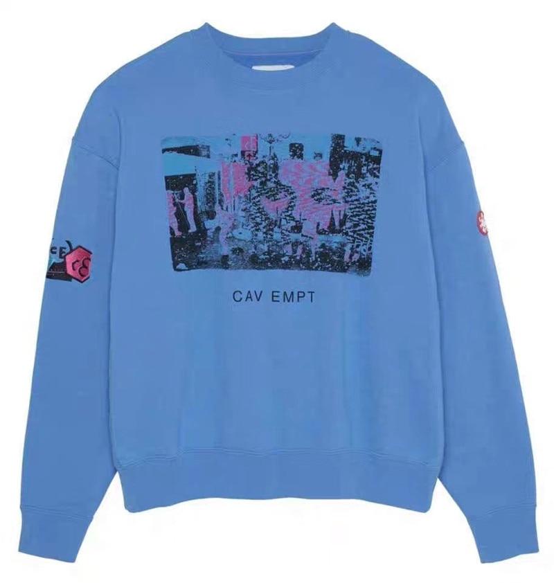 C.E19AW CAVEMPT Sweatshirts Crewneck Men Woman 1:1 High-Quality CAVEMPT Fashion Casual Hip-hop Cav Empt Hoodie Pullover