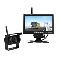 Vehicle Backup Rear View Camera Kit Bus Truck RV Wireless 7 Inch HD LCD Reverse Single Camera