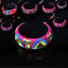 National style cloth bracelet Original retro embroidery  open jewelry female wholesale