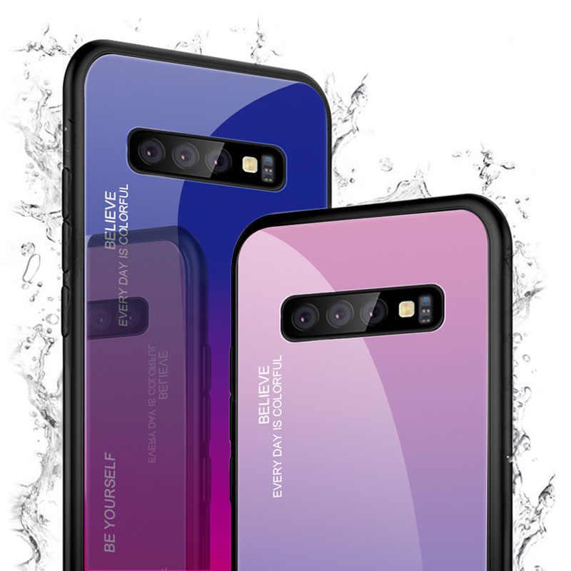 Градиентный цветной стеклянный чехол для samsung Galaxy S9 S9Plus Note 9 10 Pro S10 S10E S10Plus задняя крышка для телефона 100 шт./партия