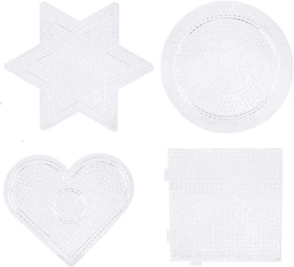 Hexagon Shape Square Round SUNNYCLUE 6Pcs Fuse Beads Boards Large Clear Plastic Peg Boards with 6Pcs Fusion Paper /& 2Pcs Plastic Perler Fuse Bead Tweezers /& 10Pcs Cord Straps for Kids DIY Crafts
