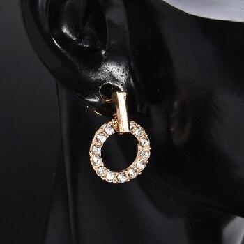 New Fashion Women Stud Wedding Earrings Simple Hypoallergenic Circle Exquisite Mini Earrings Female Jewelry 2019 Wholesale 3