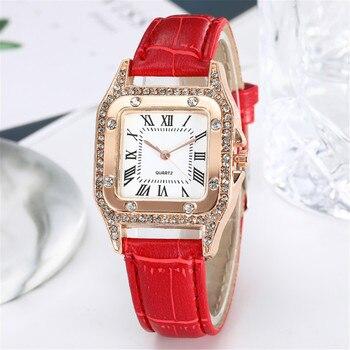 Orologio Donna con Cinturino in Cuoio 1