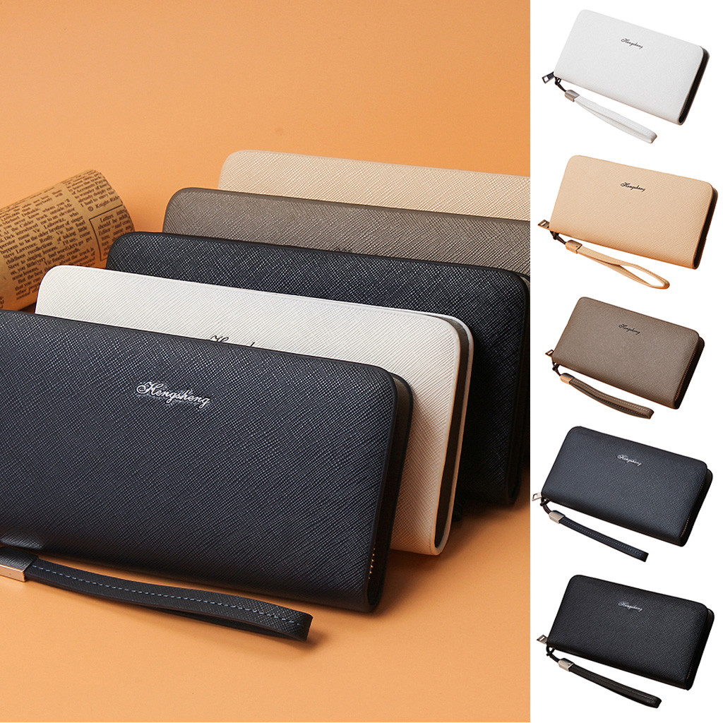 Men Long Wallet Casual Multi-function Clutch Bag  Card Package Multi-card Holder