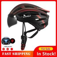 Lixada Bike Helm Motorrad Helm radfahren fahrrad helm велошлем mtb helm elektrische fahrrad kappe шлем mit Zurück Licht Visier