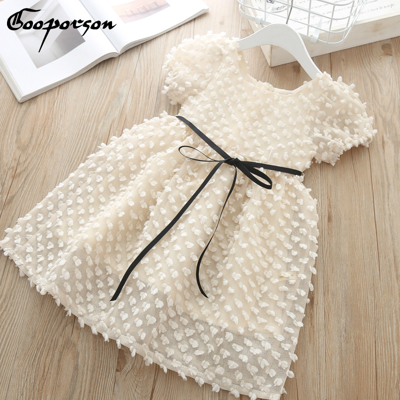 Fashion Girls Princess Dress Summer Elelgant Bbay Girl Lace Dress Kids Girl Birthday Party Dress Clothes Gift Toddlers Kids Wear 1