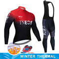 INEOS 2019 Winter Thermal Fleece Warm Cycling Jersey Set Thermal Cycling Clothing Mtb Riding Apparel Ropa Ciclismo