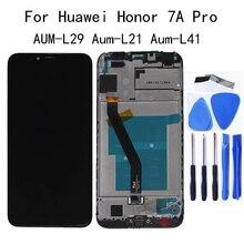 Para huawei honor 7a pro display lcd de toque digitador da tela acessórios para honra 7a por AUM L29 Aum L21 Aum L41 painel toque