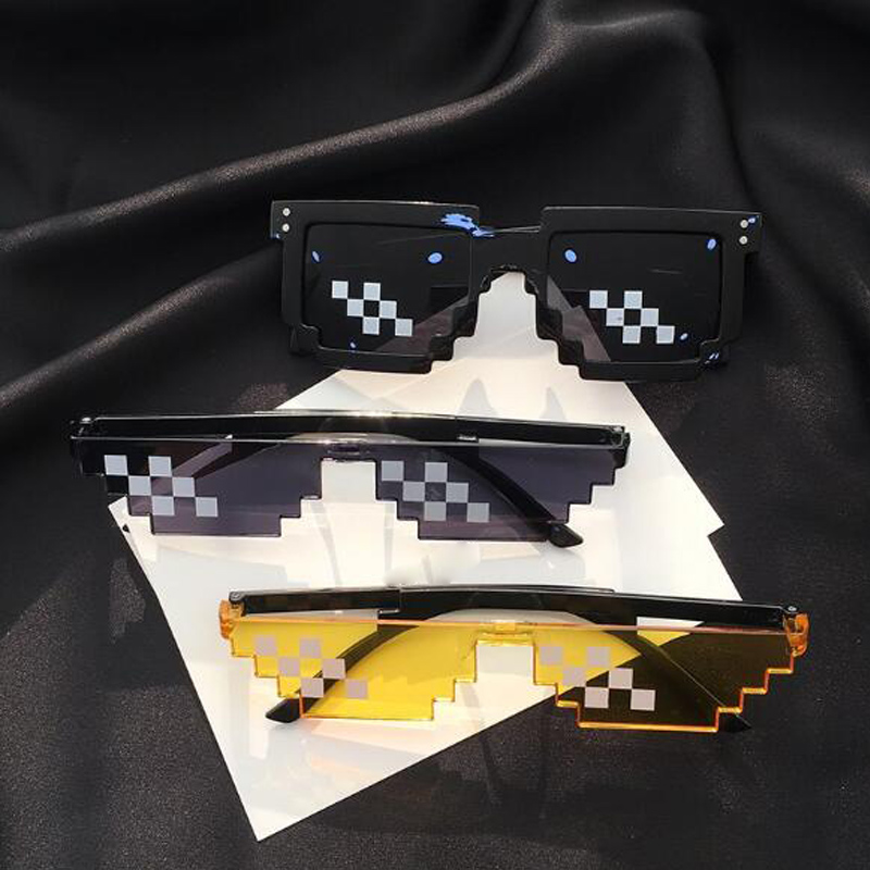 Individual Mosaic Glasses Pixel Sunglasses Big Brother Coding Square Sunglasses Fashion Unisex Lifestyle Sunglasses Pixelated Me