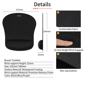 Image 3 - TeckNet Classic Office Mouse Pad Gaming Mouse Mat Pad Ergonomic Mousepad Build in Soft Sponge with Gel Wrist Rest Mice Pad