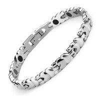 38 Новая мода био Здоровье Уход магнитотерапия браслет из нержавеющей стали магнитный браслет германий ель анион женский браслет