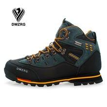 TANTU Homens Tênis para caminhada de Couro À Prova D' Água Sapatos de Escalada & Pesca Sapatos Novos Populares Sapatos Ao Ar Livre Dos Homens De Alta Top Botas de Inverno