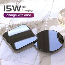 15 Вт QI Беспроводное быстрое зарядное устройство usb tpye c QC 3,0 Быстрая зарядка для iphone samsung s9 мобильный телефон airpods pro 2