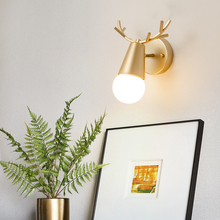 Modern antler wall lamp gold&black Lamp wall type livingroom bedroom bathroom mirror wandlamp interior decoration LED wall light