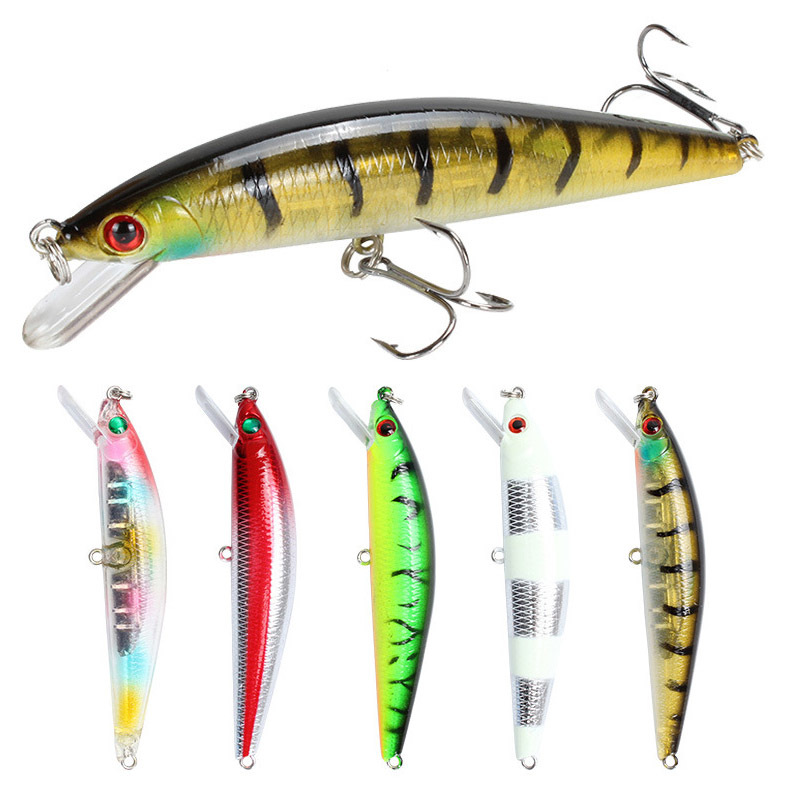 1pcs Minnow Fishing Lure 10cm 28 4g Sinking Jerkbait Artificial Hard Baits 3D Eyes Wobbler Pike Lure Fishing Tackle Pesca in Fishing Lures from Sports Entertainment