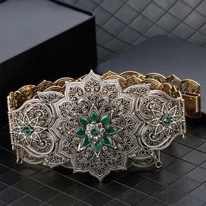 Image 4 - SUNSPICE MS Luxury Gold สีผู้หญิงเข็มขัดโลหะเข็มขัดเครื่องประดับยาวปรับความยาวงานแต่งงานหัวเข็มขัดเข็มขัดเอว 2018