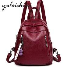 Mochila multifuncional con combinación de mochila para mujer, mochila escolar con correa para el hombro, de cuero, para viaje