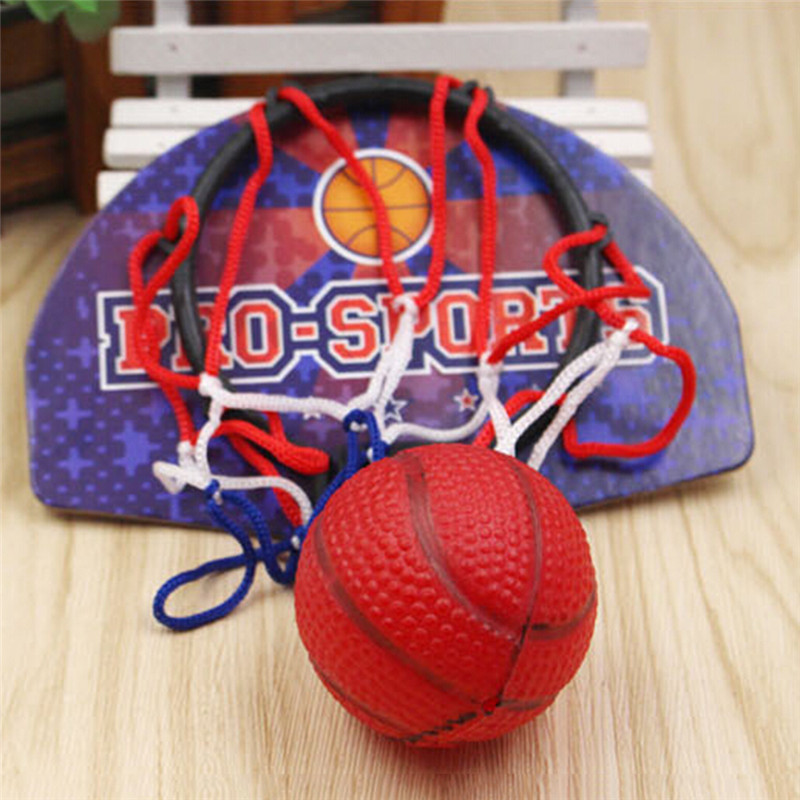 Kids Hanging Basketball Hoop Indoor Basket Ball For Door Mini Basketball Board Family Basket Children Game Basketball Toy Set Z