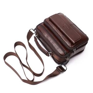 Image 2 - ZZNICK 2020 Genuine Cowhide Leather Shoulder Bag Small Messenger Bags Men Travel New Fashion Men Bag Flap Crossbody Bag Handbags