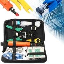 Инструмент для ремонта компьютерной сети 149 шт. сетевой Ethernet RJ45 RJ11 Cat5 Кабель T эфир телефон Lan Щипцы RJ11 RJ45