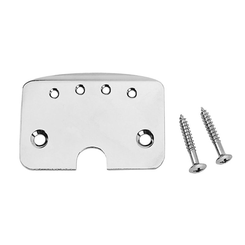 Aluminum Hinge Tailpiece Silver Plated Plate Board For 4 String Cigar Box Guitar