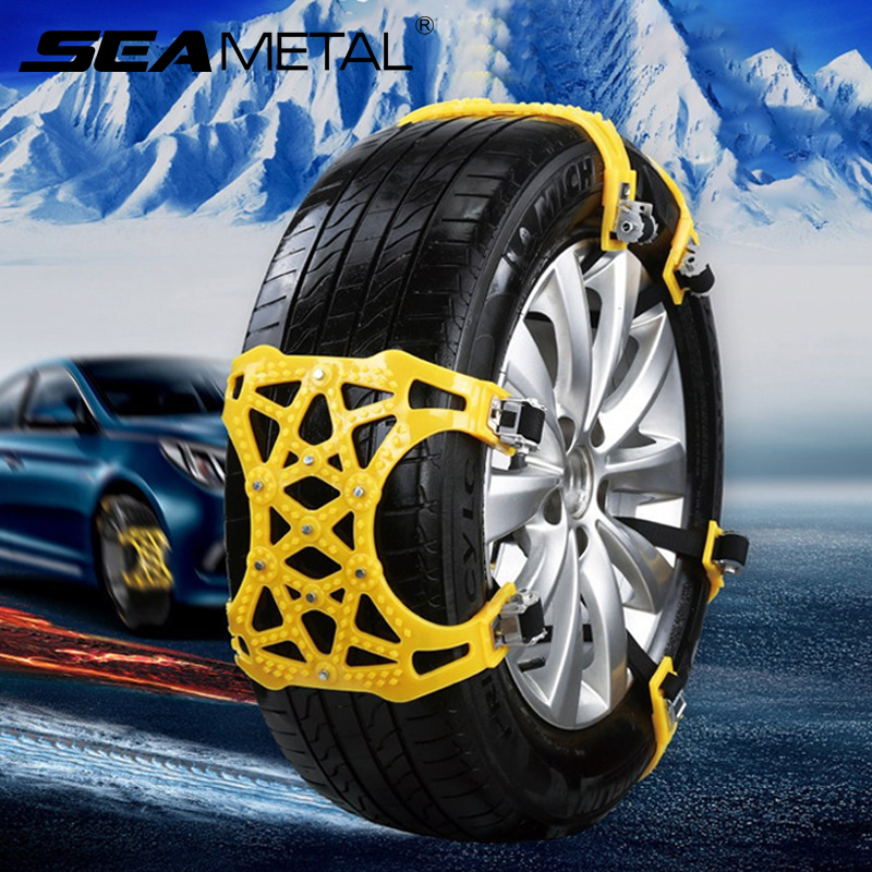 4PCS Anti-slip Off Road Ice Snow Tire Chains Car Wheel Road Safety Accessories