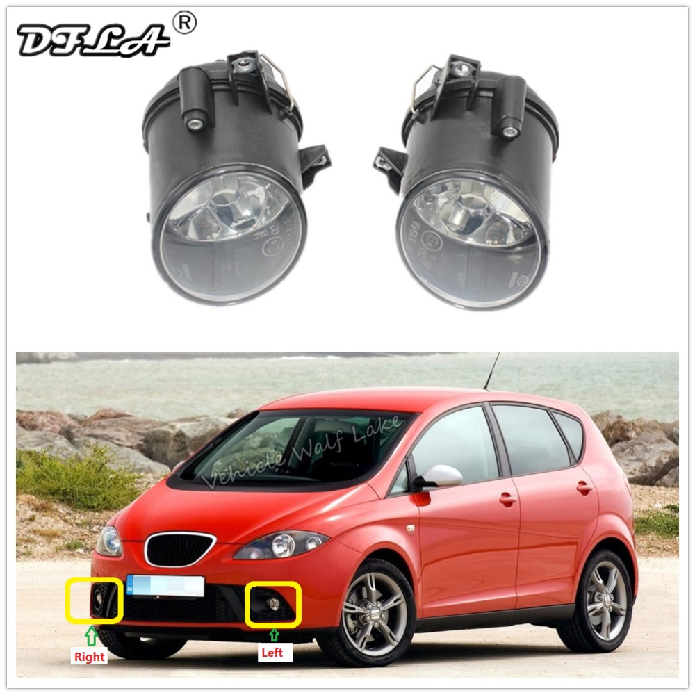 Car Fog Light For Seat Altea 2004 2005 2006 2007 2008 2009 Car-styling Front Bumper Fog Light Fog Light Without Bulbs