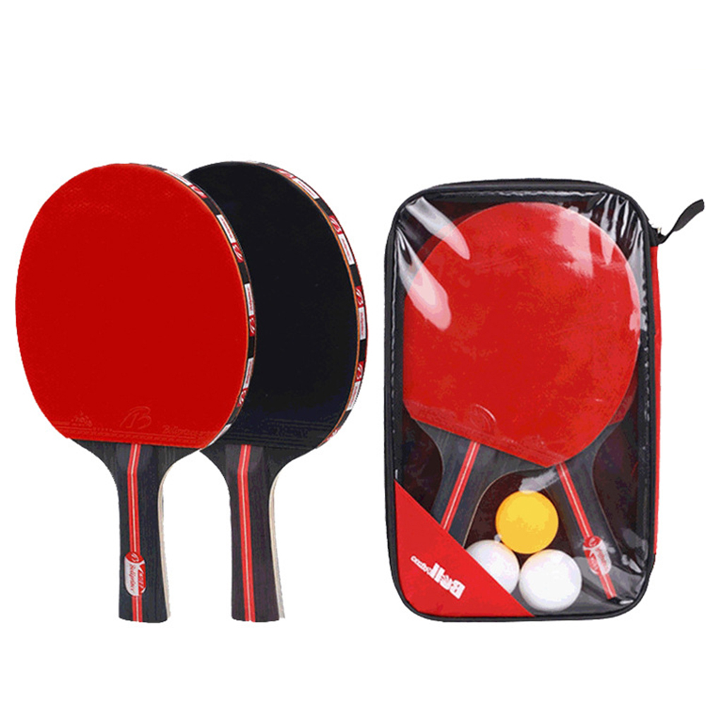 Outdoor Lightweight Durable Home Sports Equipment Table Tennis Set 1 Rackets Playground Students Beginners 3 Balls Training