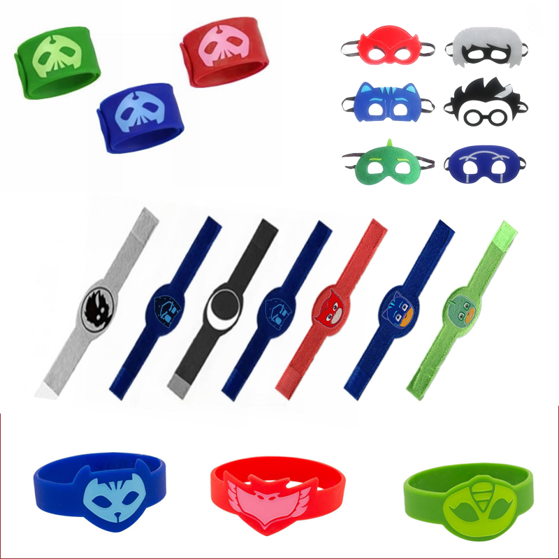 PJ Masks Juguete Wristband Bracelet Catboy Owlette Gekko Figures Birthday Halloween Pj Mask Cosplay Gift Toys For Children S67