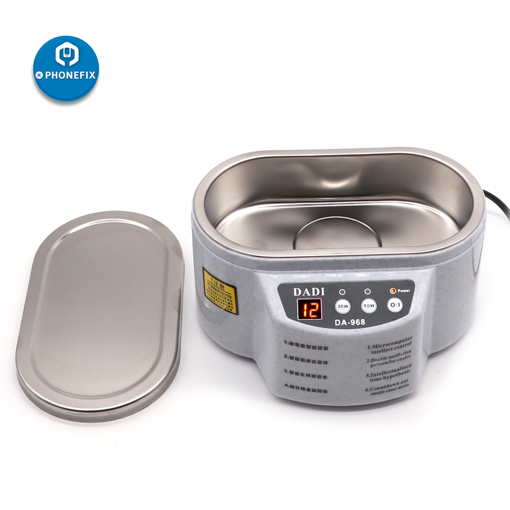DA-968 600ml Mini Ultrasonic Cleaner Bath For Cleaning Jewelry Glasses Circuit Board Intelligent Control 30/50W