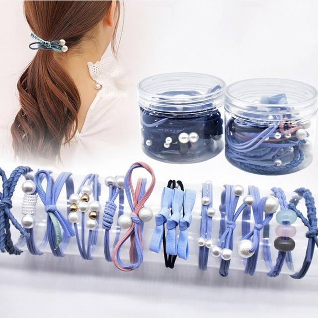 12 шт маленькая свежая веревка для волос Корейский Мори девушка
