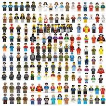 цена на 100pcs Creative Movie Series Building Blocks Dolls Toy Mini Action Figures Children DIY Toys Boys Girls Children Christmas Gifts